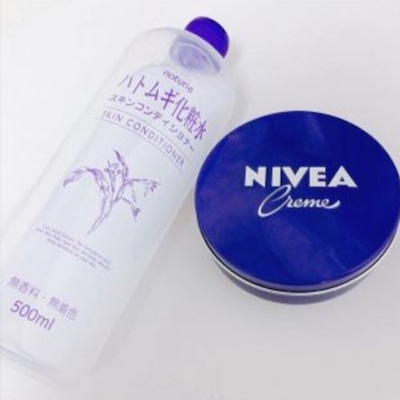 ハトムギ化粧水とニベアでニキビが治る?美白もできる?の記事に添付されている画像