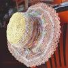 こんな暑い日に被りたい♪かわいい手編みの帽子が届いています^^の画像
