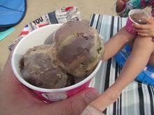娘とアイス