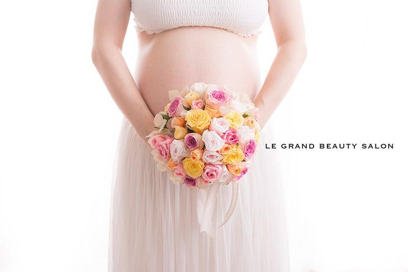 前回ご出産報告を頂いた妊婦様のマタニティフォトです♡