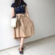 しまパト♡700円刺繍シャツでサラッと華奢見え♡