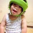 ダウン症児に保護帽を…