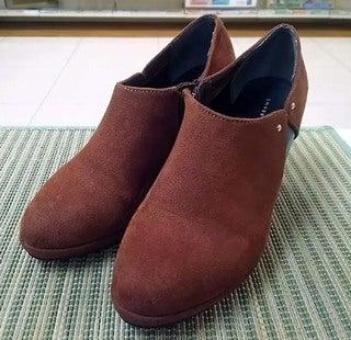 婦人靴のカカトの修理とハーフソール
