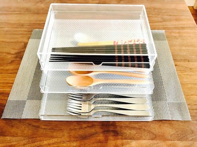 無印良品のボックスを使ったカトラリーの収納例をご紹介