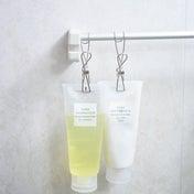 ★無印良品ワイヤークリップで!お風呂場すっきり♪掃除が楽な吊り下げ収納