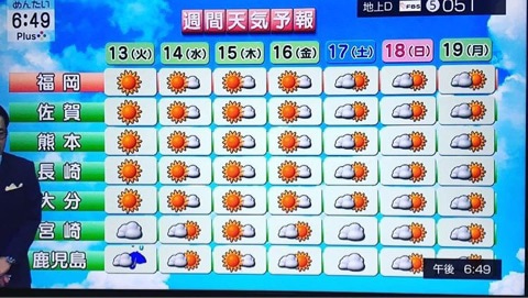 の 天気 佐賀 明日