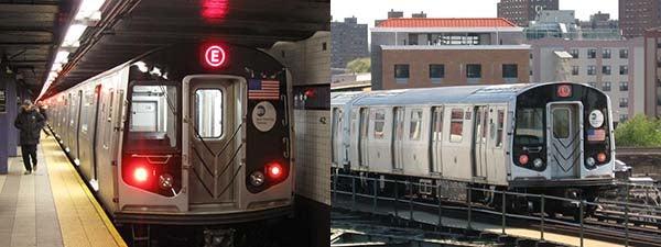 ニューヨークの地下鉄は電車でも...