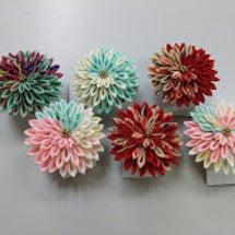 つまみ細工   剣菊