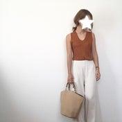 透けないアイボリーのワイドパンツ / バースデイ購入品