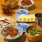 夏バテに鰻丼の晩ごはん