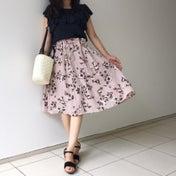 しまむらコーデ♡花柄スカートでガーリーコーデ