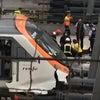 ▼唸声スペイン映像/バルセロナで列車がノーブレーキで終着駅に突っ込み48名が負傷の画像