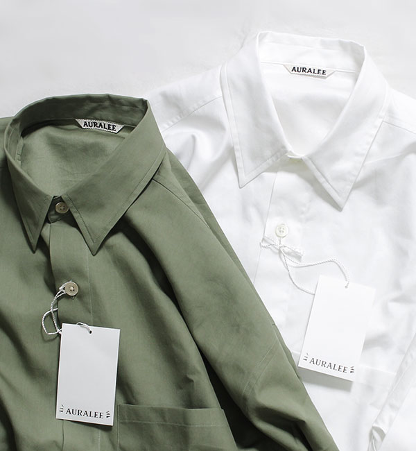 AURALEE 2017AW 2nd DELIVERY. BIG SHIRTS