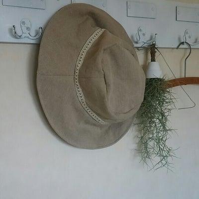 【ハンドメイド】お気に入りのリネンと着物の帽子の記事に添付されている画像
