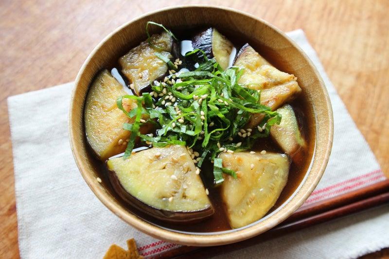 発酵茶「碁石茶」で作るお味噌汁!エゴマと茄子のお味噌汁
