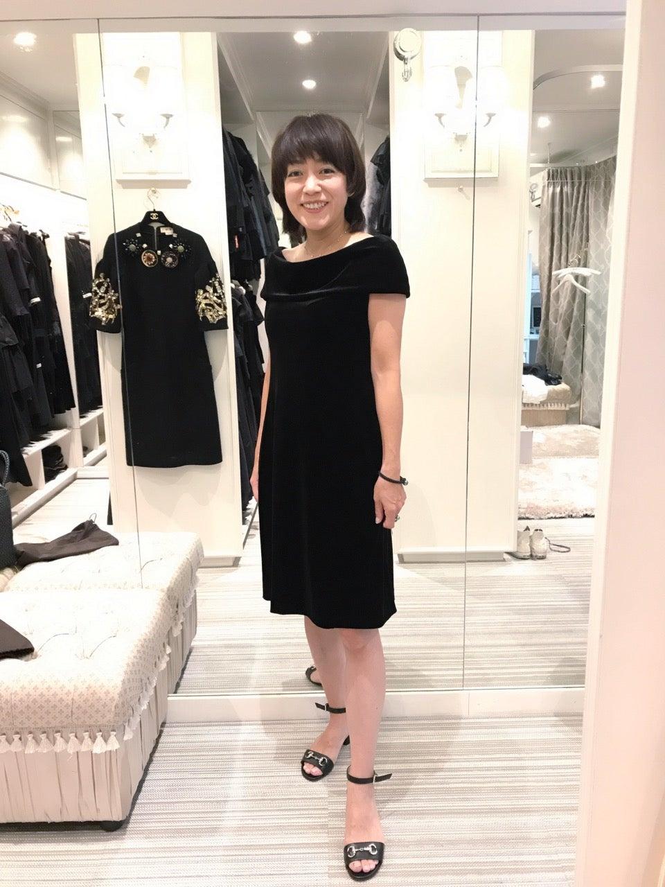 c6c09386d724f またドレスをレンタルに行きましたよ:ブラックドレス テン