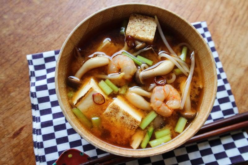 韓国風☆コチュジャン入りピリ辛お味噌汁