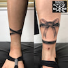 タトゥー:リボン:足首の画像