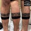 タトゥー:トライバル:足の画像
