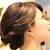 #2017秋婚 のエレガントな黒髪のダウンスタイルの画像