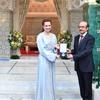 【モロッコ王室】ラーラ・サルマ妃 2017年5月ラーラ・サルマ財団WHOから金メダルを授与の画像