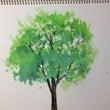 簡単!透明水彩で樹木…