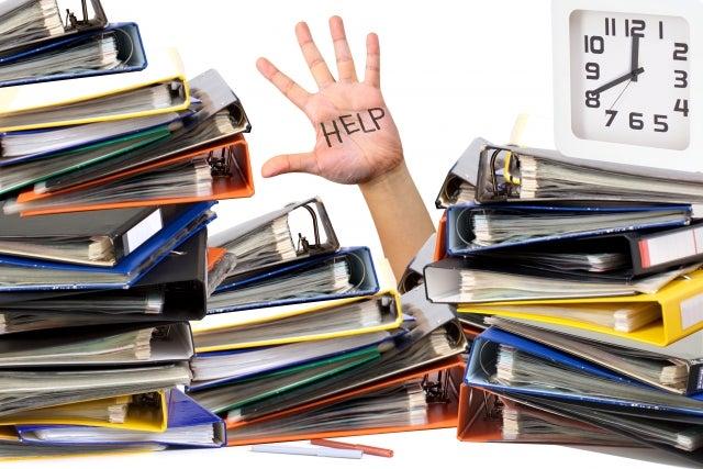 沢山のファイルとHELPの文字