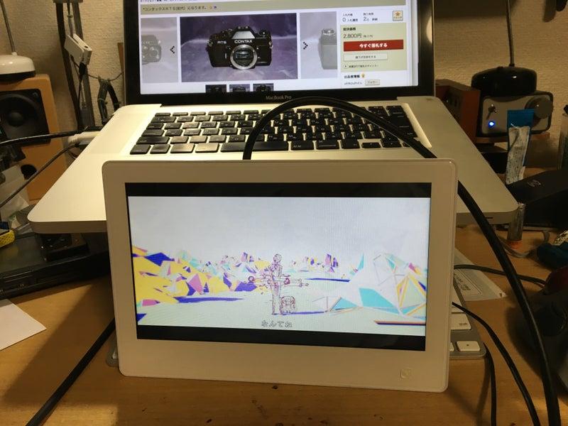 e2b9a2f397 この様に加工する前に動作確認も済ませているわけですが、動画再生 専用ミニモニターとしては十分です。唯一残念なのはHDMI入力が可能なのに音声出力が無いこと。