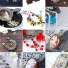 アイリスガラスやクリスタルガラスのネックレスをUPしました!の記事より