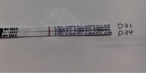 d34 早期妊娠検査薬a checkで検査してみた シリンジ法で2人目妊娠