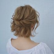 ボブのアシンメトリーアレンジ hair arrange & hair set