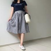 しまむらコーデ♡臨月に履いていたスカートで夏コーデ♪