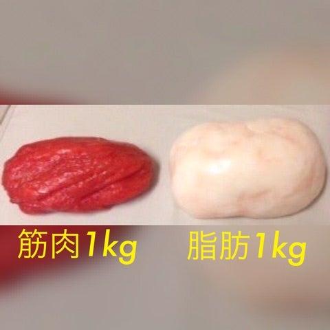 「筋肉 脂肪 1kg」の画像検索結果