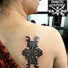 タトゥー:ロゴ?:背中の画像