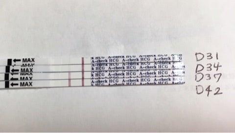 d42 a check 早期妊娠検査薬の反応 シリンジ法で2人目妊娠 子育て記録