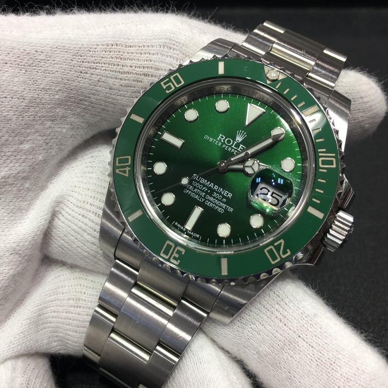 promo code 04088 29e34 スタッフの私物時計のご紹介!!グリーンサブ 116610LV ...