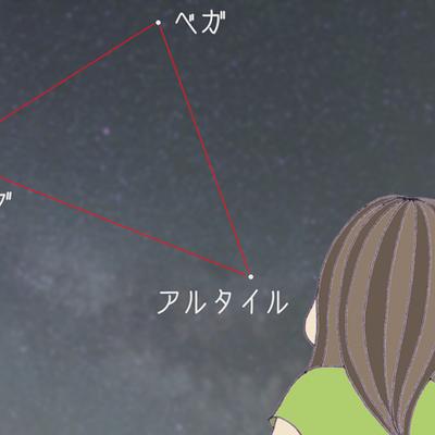 夏の大三角の記事に添付されている画像