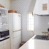 キッチンインテリア*壁紙と冷蔵庫裏掃除*の画像