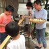 夏だ、流し素麺だー!タラゴン家の恒例流し素麺、竹でデキャンタも作って日本酒で乾杯♪の画像