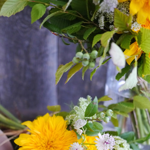 夏を楽しもう♪ たっぷり向日葵のブーケの画像