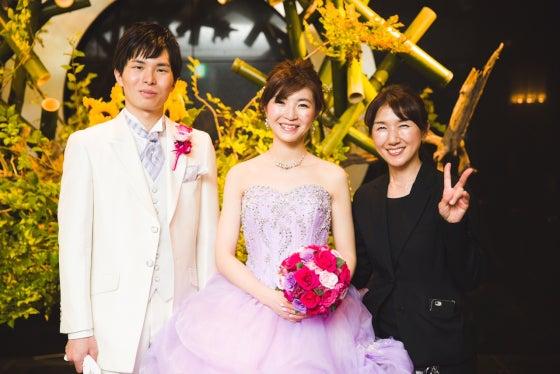 ミルフェリーチェウェディング 出張ヘアメイク ホテルニューオータニ カラードレス 花嫁髪型