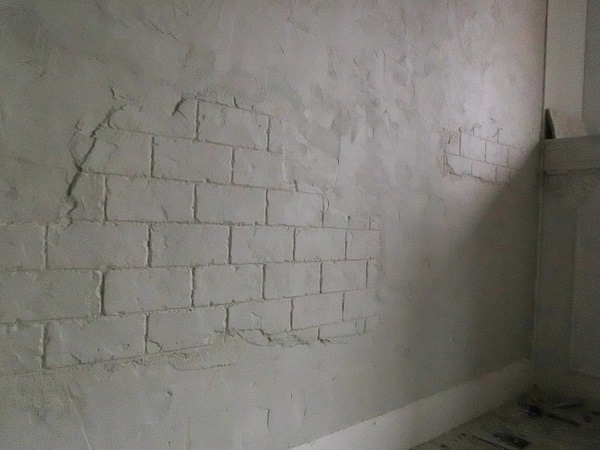 (66) リビング壁に『モルタル造形開始です♪』~水の配合と注意 ...