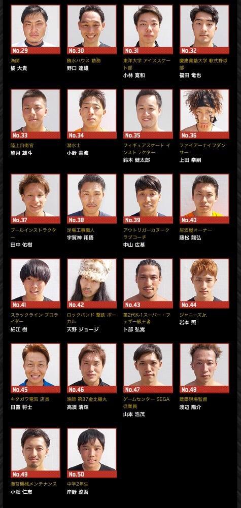 【SASUKE2017秋】出場者この記事はアメンバーさん限定です。