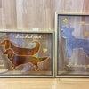DOG AM.   シュナウザーとダックスのシルエットの画像