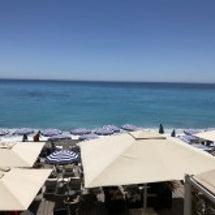 ニースのビーチ