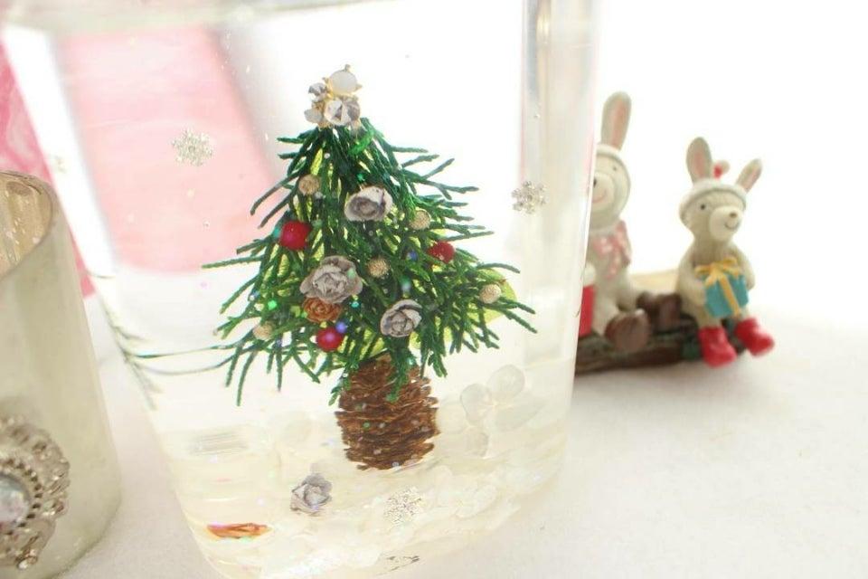 ハーバリウムのクリスマスツリー