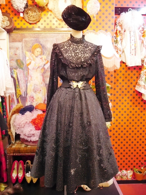 e2e60474bf5c5 ヴィンテージレースゴシックドレス! ヨーロッパレディース古着Gogh ...