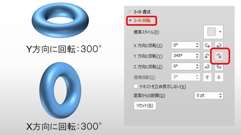 トーラス体編 パワーポイントで3d 立体 を描こう パワポ de 3d