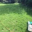 お庭の芝刈り作業