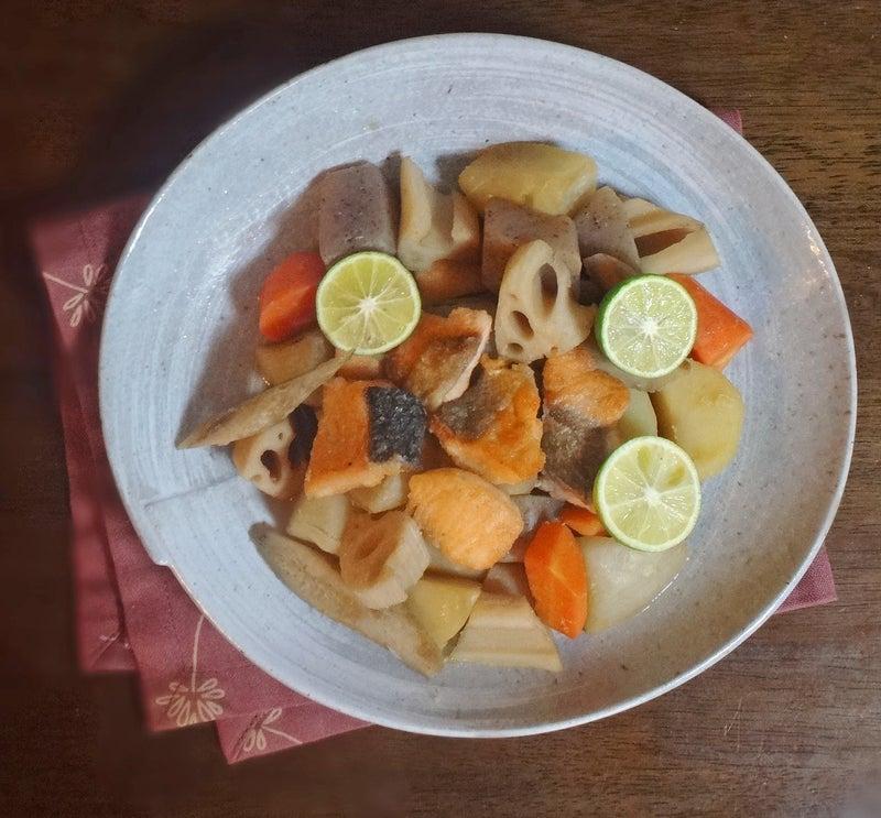 鮭と根野菜の煮物